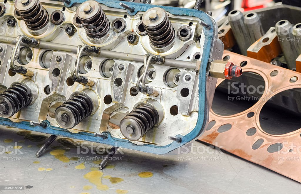 auto engine detail stock photo