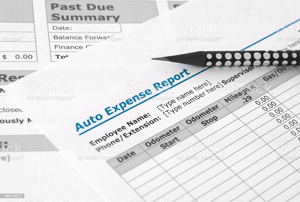 Auto expense report royalty-free stock photo