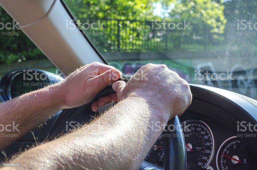 Auto fahren stock photo