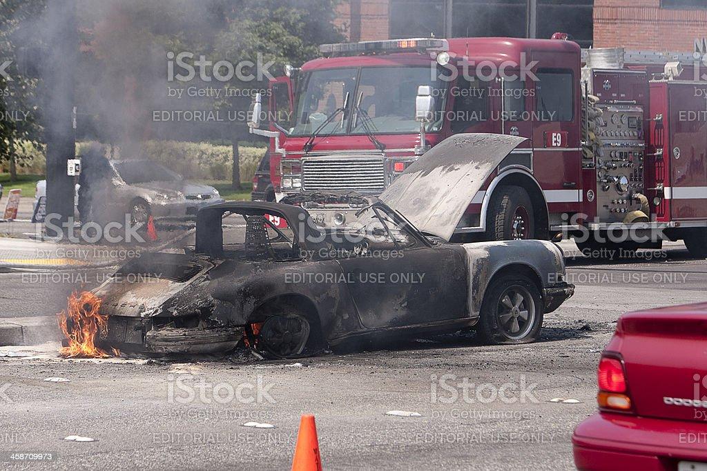 Auto Fire royalty-free stock photo