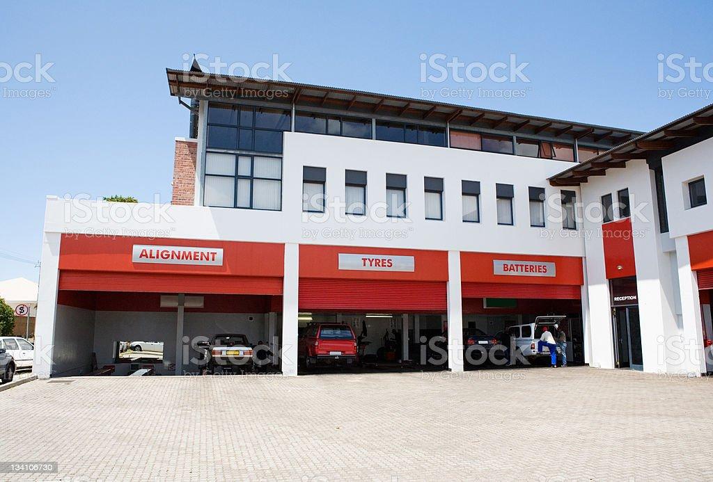 Auto fitment center stock photo