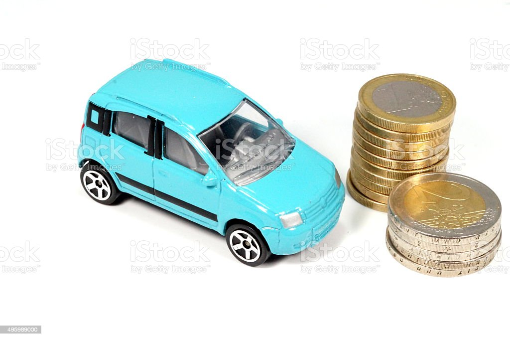 Auto Geld stock photo