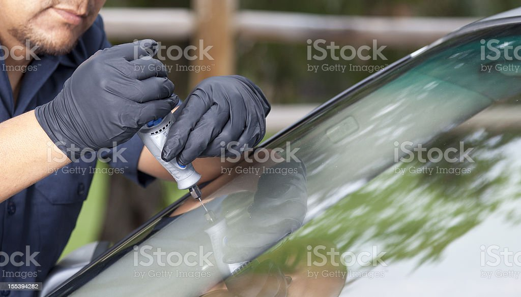 Auto Glass Repair & Replacement stock photo