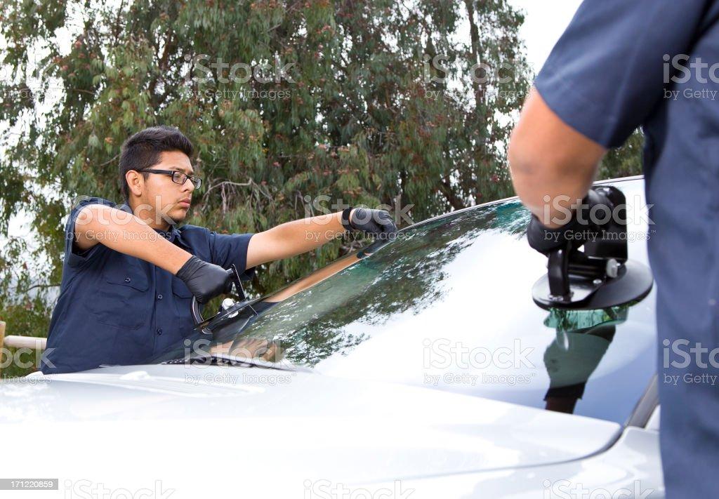 Auto Glass Repair & Replacement stock photo