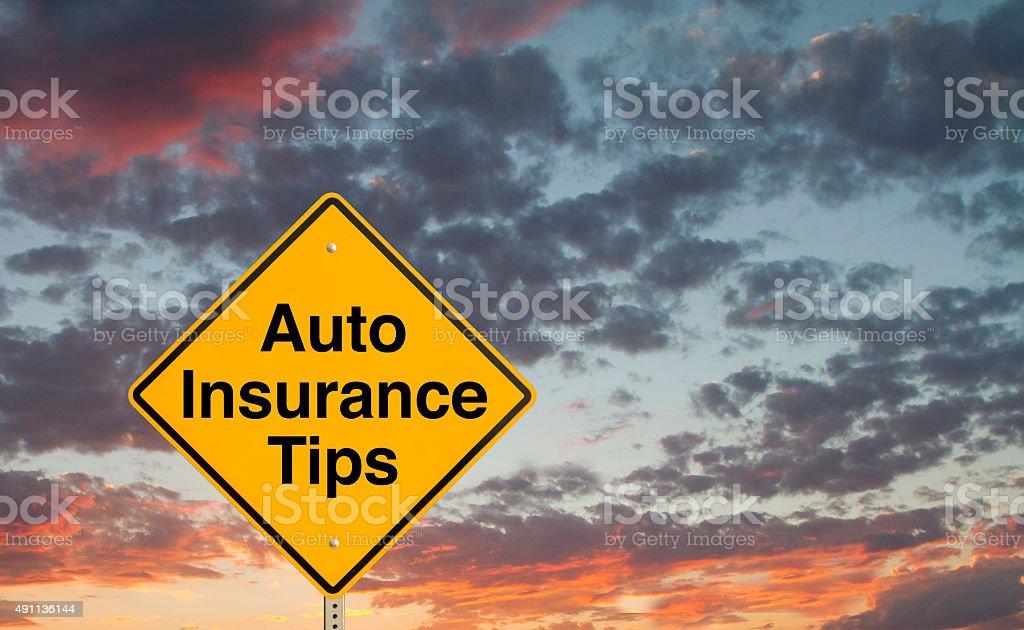 Auto Insurance Tips stock photo