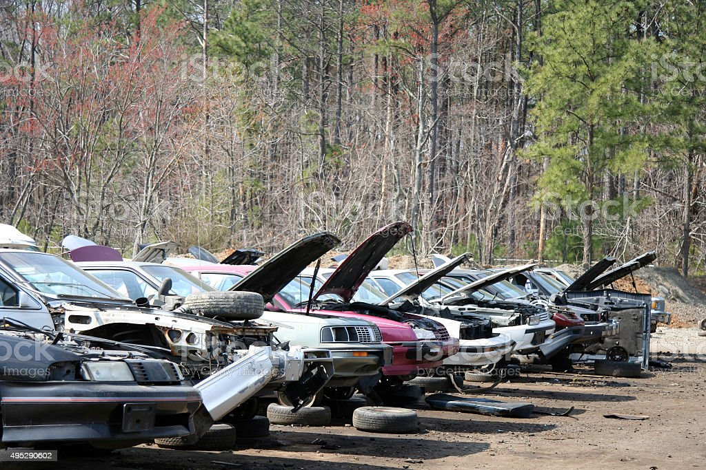 Auto Junk and Salvage Yard stock photo