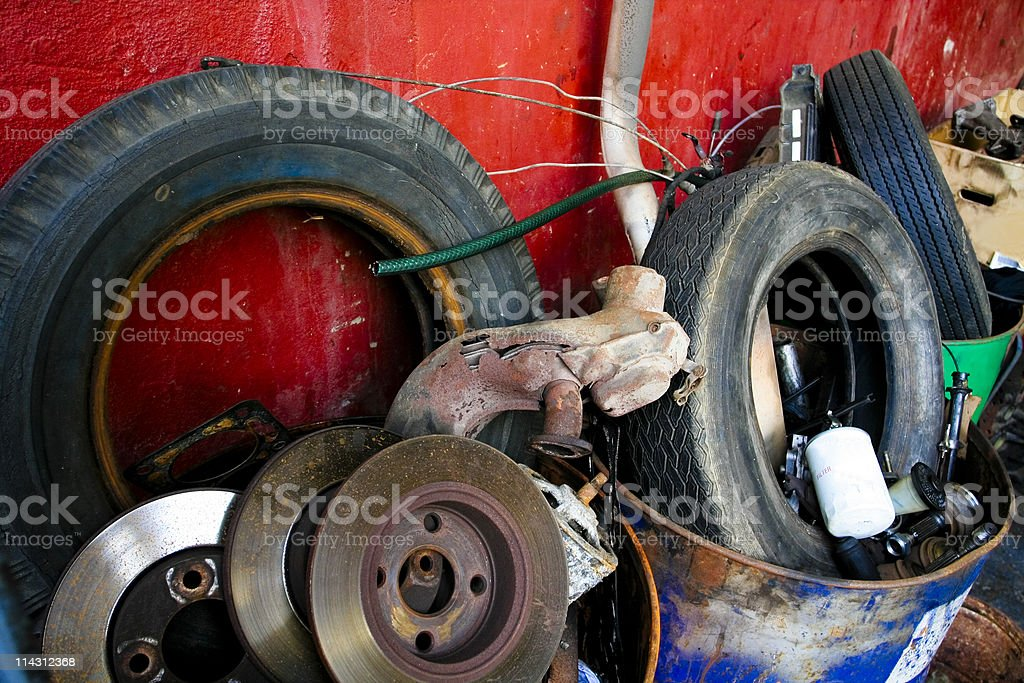 Auto junk royalty-free stock photo