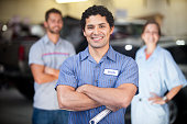 Auto Mechanic Team in Shop