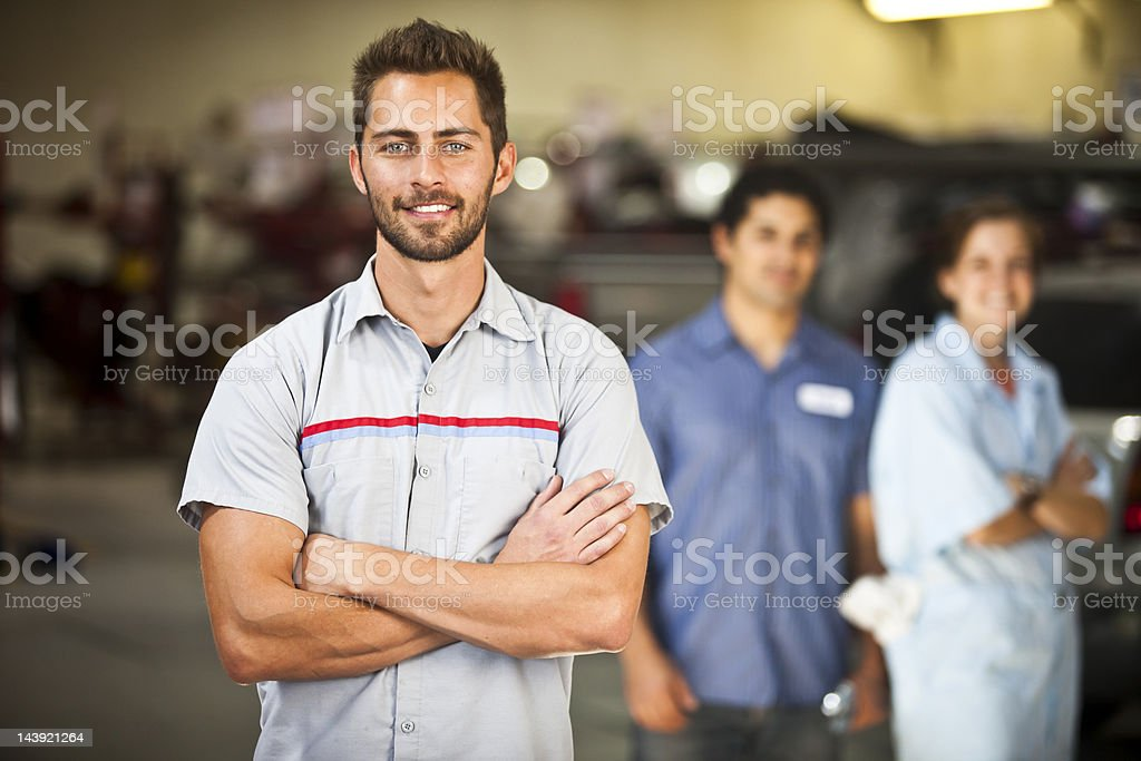 Auto Mechanic Team stock photo