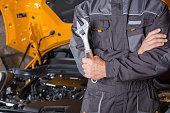 Auto mechanic workshop