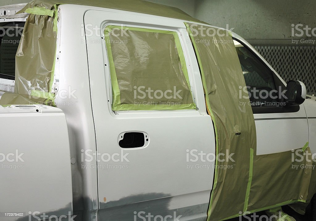 Auto painting repair royalty-free stock photo