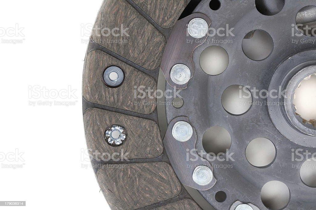 Auto Parts. Clutch plate closeup stock photo