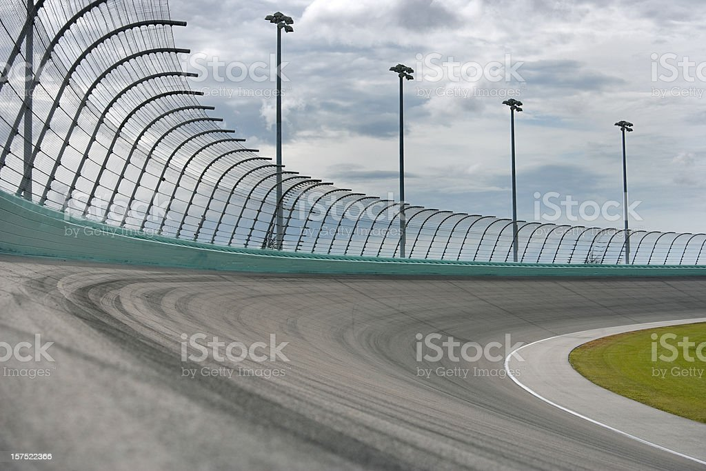 Auto racing Racetrack turn stock photo