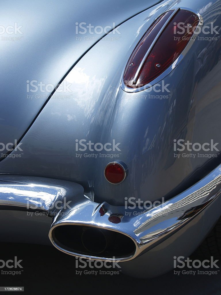 Auto Rear Light and Exhaust Detail royalty-free stock photo