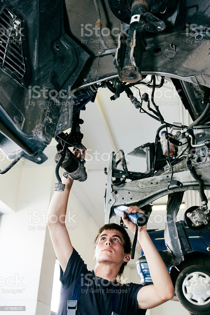 Auto repair equipment stock photo