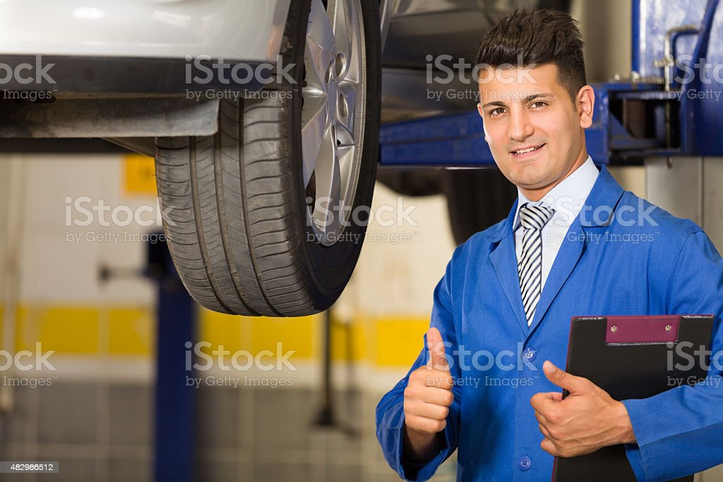 Auto Repair Shop Manager stock photo