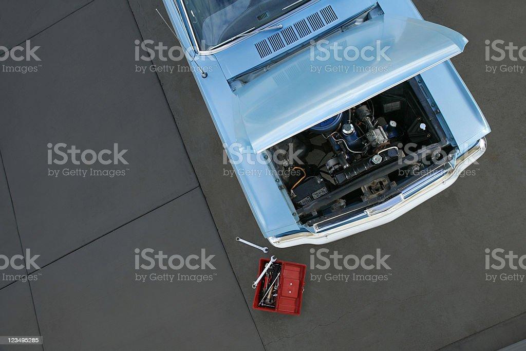 auto repair shop stock photo
