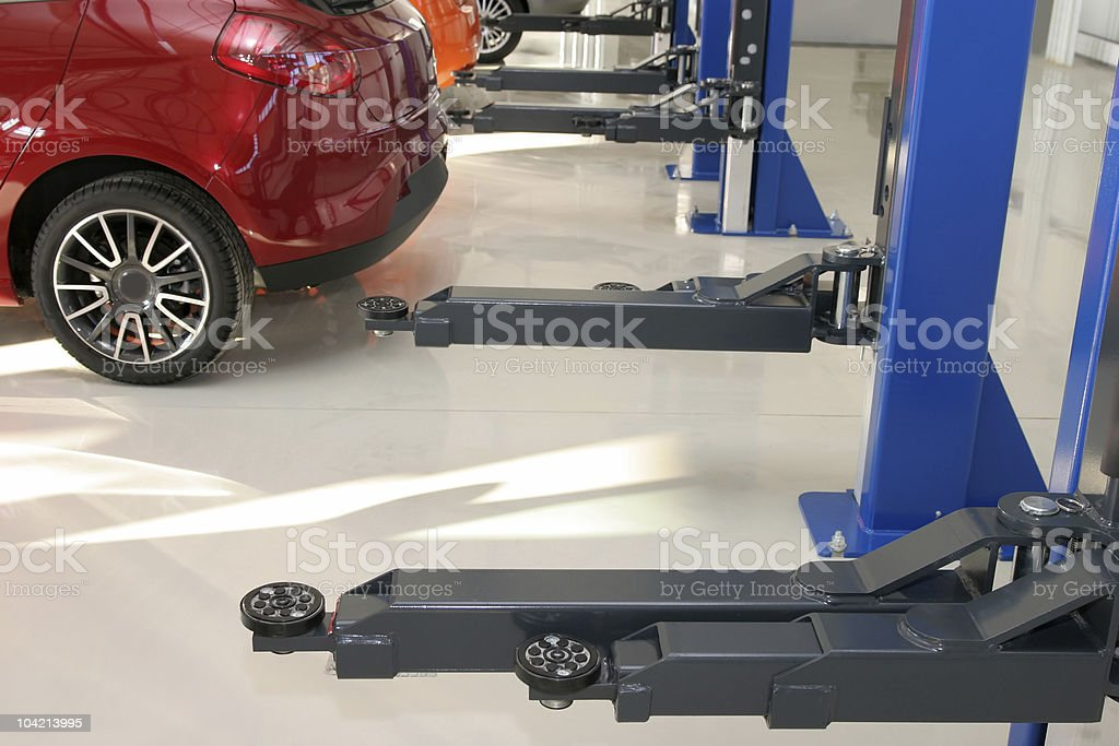 Auto repair workshop stock photo