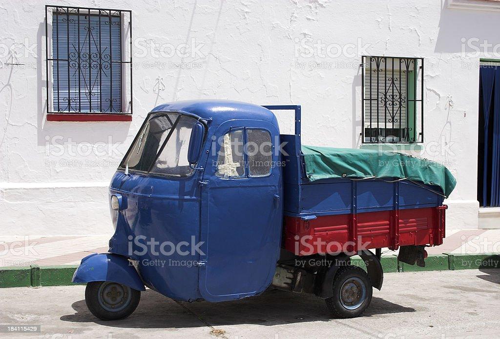 Auto rickshaw or tuktuk style vehicle royalty-free stock photo