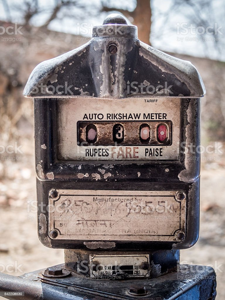 Auto rikshaw meter stock photo