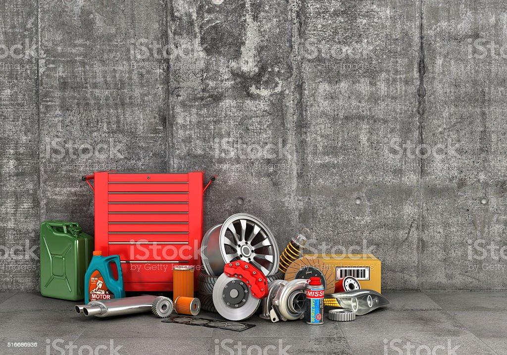 Auto service. stock photo