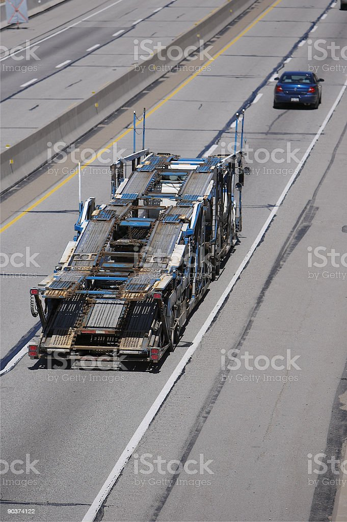 Auto Transporter royalty-free stock photo
