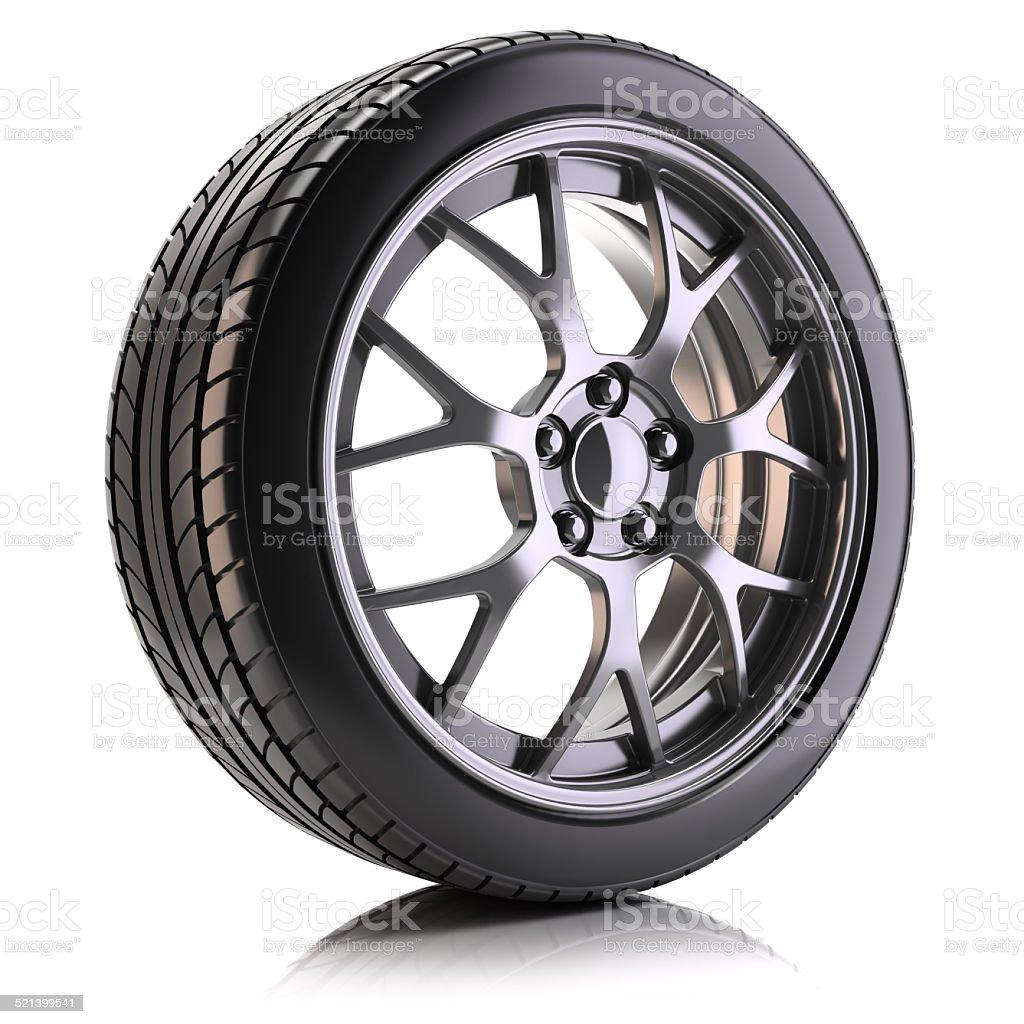 Auto wheel isolated stock photo