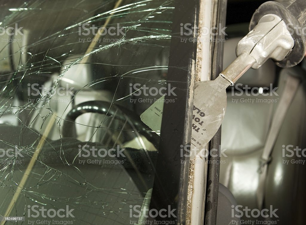 Auto Windshield Removal for Replacement stock photo