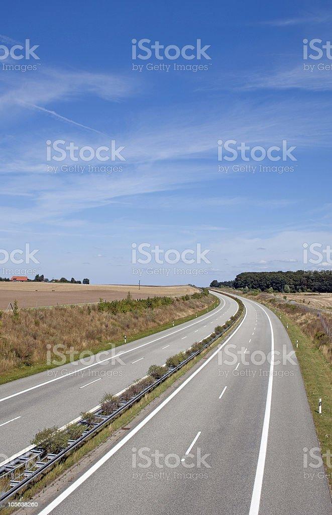 Autobahn A14 bei Schwerin, Deutschland royalty-free stock photo