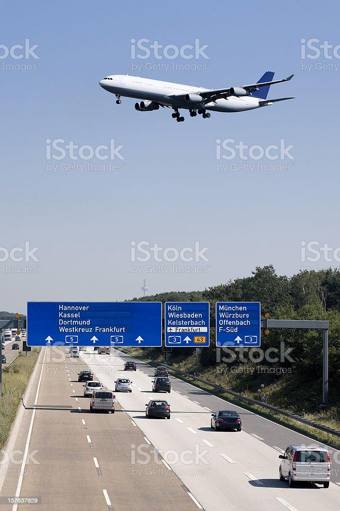 Autobahn A5, Frankfurter Kreuz - Germany stock photo
