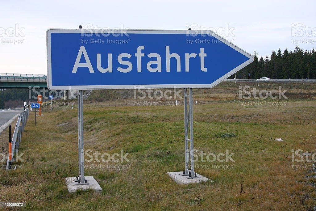 autobahn sign: gateway (german) royalty-free stock photo