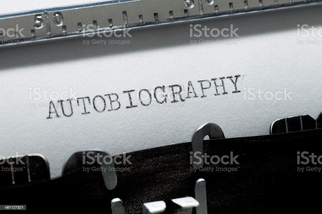 Autobiography stock photo