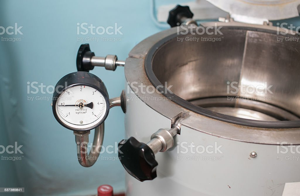Autoclave in a medical lab stock photo