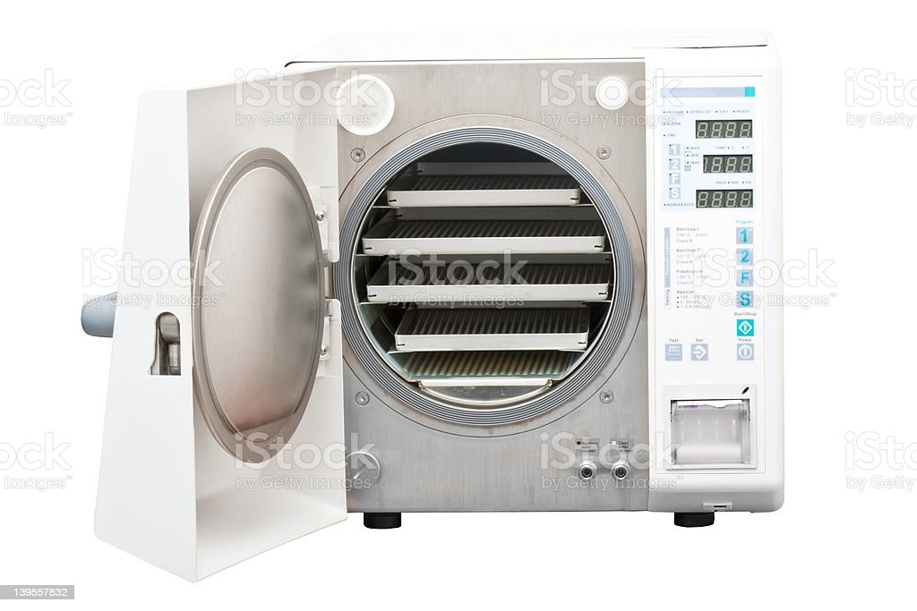 Autoclave, steriliser used in dentistry stock photo