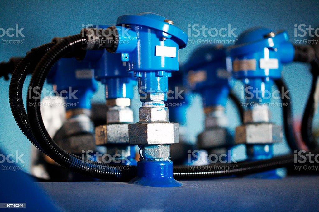 Autoclave Vacuum Line stock photo