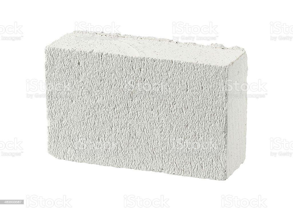 Autoclaved aerated concrete block stock photo