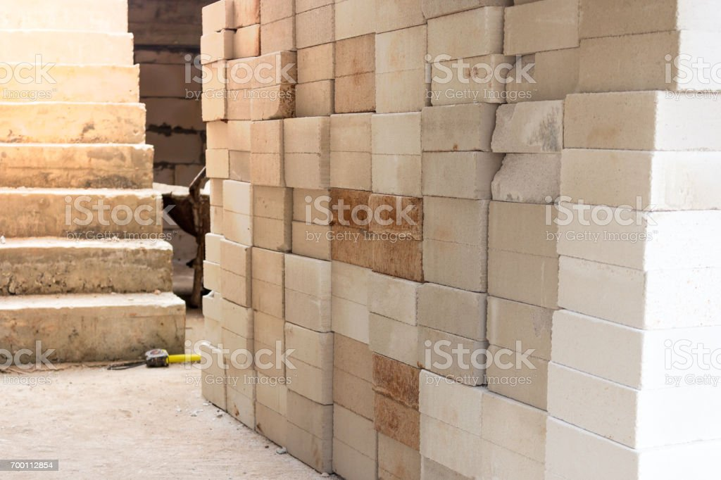 autoclaved aerated concrete stock photo