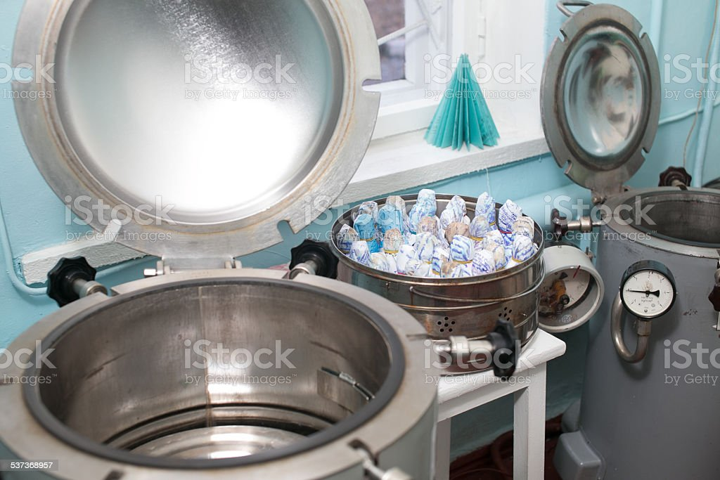 Autoclaves in a medical lab stock photo
