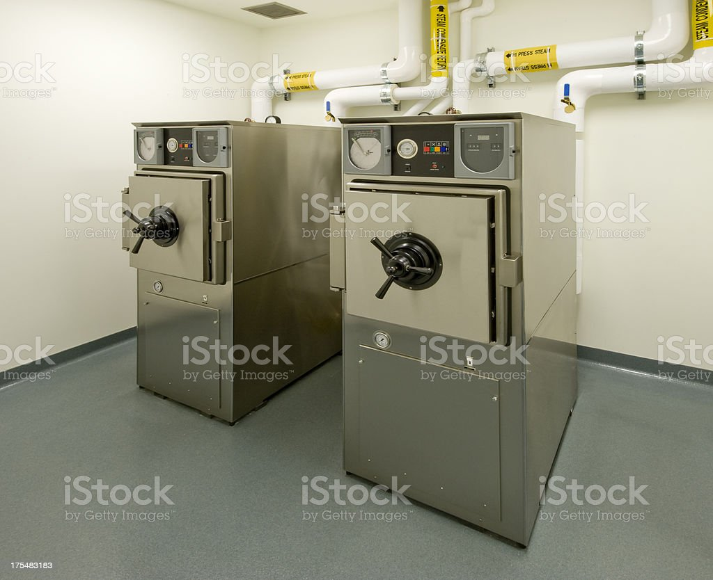 Autoclaves stock photo