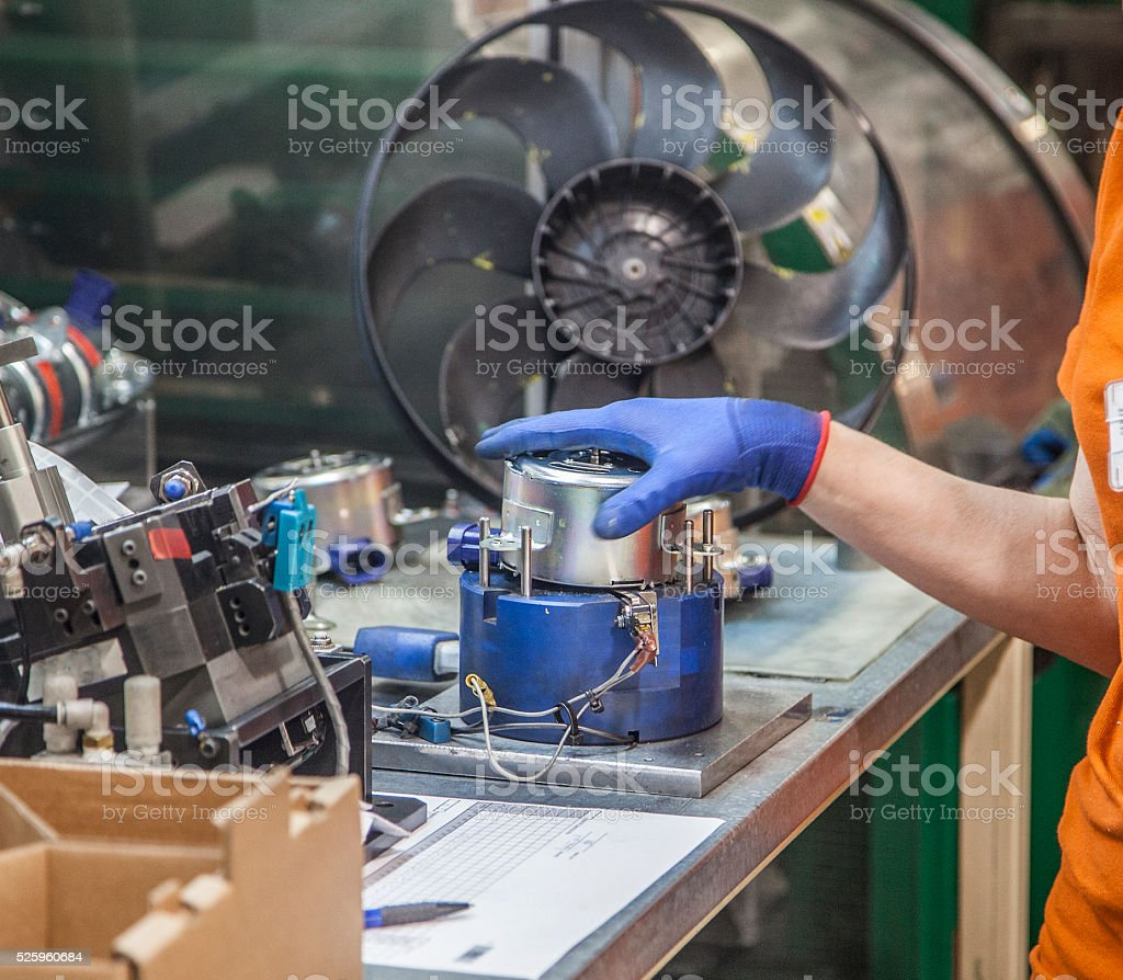 Auto-electrical industry stock photo