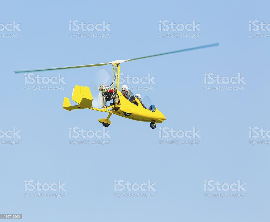 Autogiro flying royalty-free stock photo