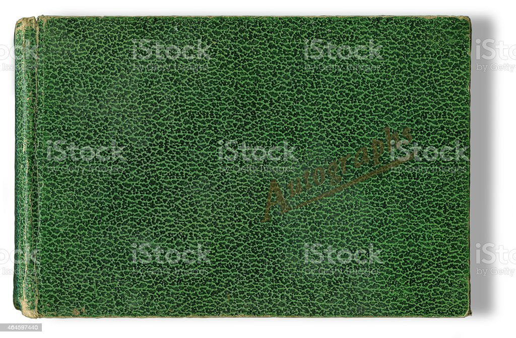 Autograph Book (with clipping path) stock photo