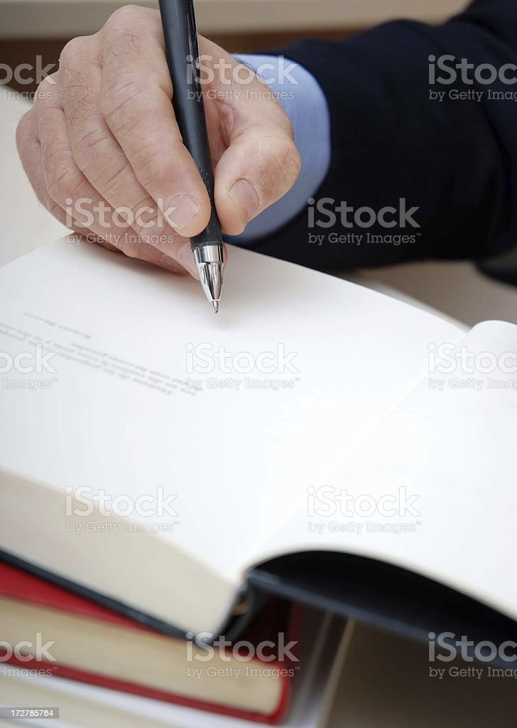 Autograph royalty-free stock photo