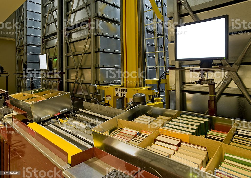 Automated Book Storage System royalty-free stock photo