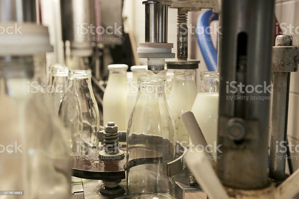 Automated Bottling plant stock photo