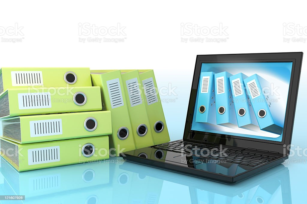 Automated data processing stock photo