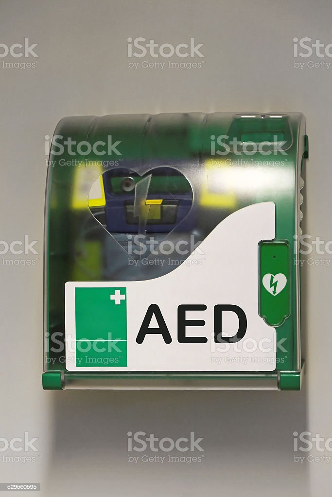 Automated external defibrillator stock photo