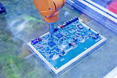 automated machins of production printed circuit board