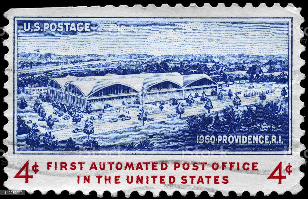 Automated Post Office stock photo