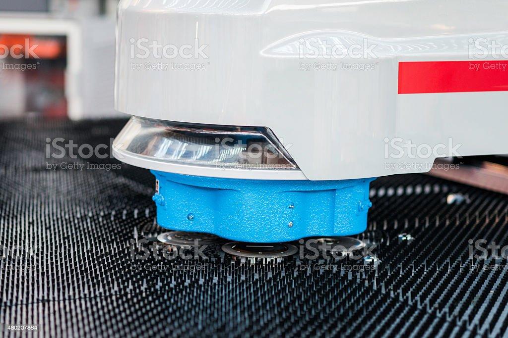 Automated precision cutting metalwork machine stock photo
